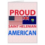 Proud Saint Helenian American Greeting Cards