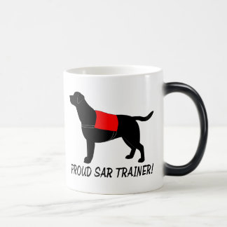 Proud SAR Trainer with Labrador Retriever. Magic Mug