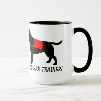 Proud SAR Trainer with Labrador Retriever. Mug