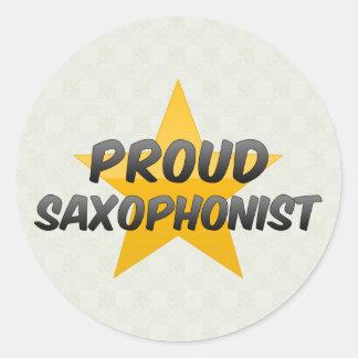 Proud Saxophonist Round Stickers