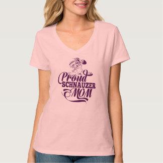 Proud Schnauzer Mom V-neck T-Shirt