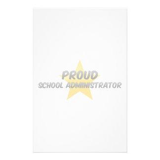 Proud School Administrator Stationery