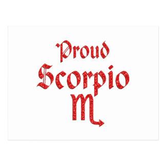 Proud Scorpio Postcard