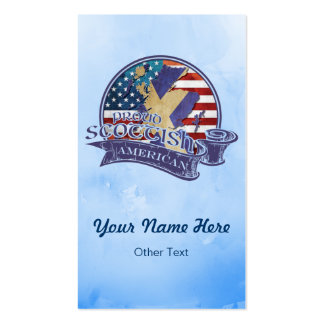 Proud Scottish American Business Cards