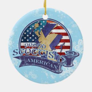 Proud Scottish American Christmas Ornament