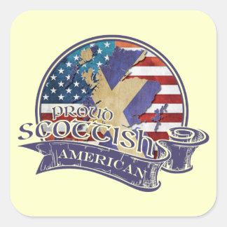 Proud Scottish American Stickers