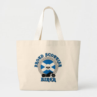 Proud Scottish Biker Tote Bags