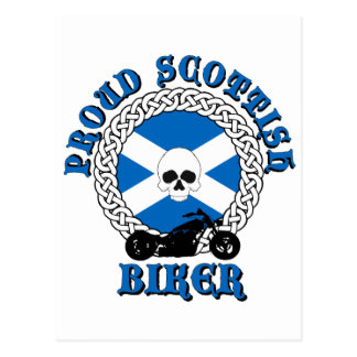 Proud Scottish Biker Postcards