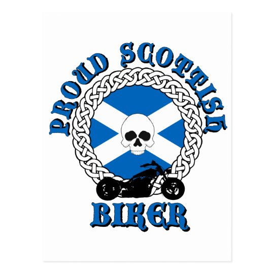 Proud Scottish Biker Postcard