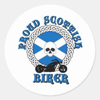 Proud Scottish Biker Stickers