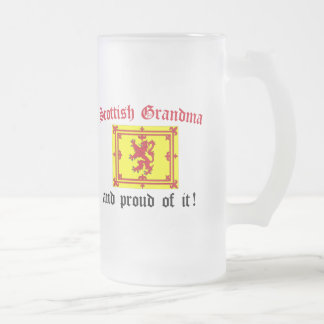 Proud Scottish Grandma Frosted Glass Beer Mug