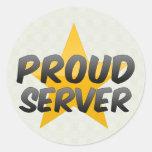 Proud Server Classic Round Sticker