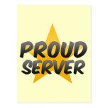 Proud Server Postcard