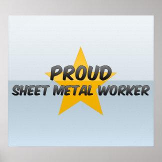 Proud Sheet Metal Worker Poster