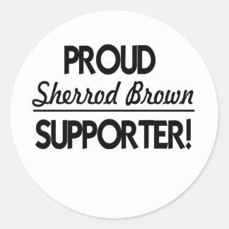 Proud Sherrod Brown Supporter! Classic Round Sticker