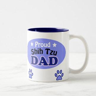 Proud Shih Tzu Dad Two-Tone Coffee Mug