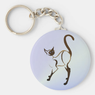 Proud Siamese Cat Keychain