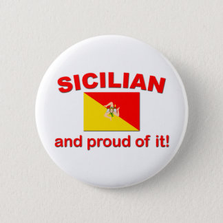 Proud Sicilian Pinback Button