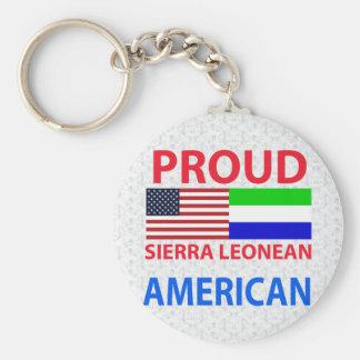 Proud Sierra Leonean American Keychain