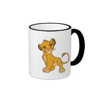 Proud Simba Disney Ringer Coffee Mug