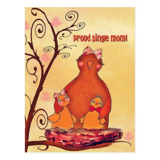 proud single mom postcard