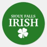 Proud SIOUX FALLS IRISH! St Patrick's Day Round Stickers