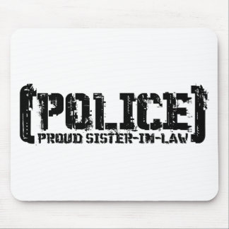 Proud Sister-in-law - POLICE Tattered Mouse Pad