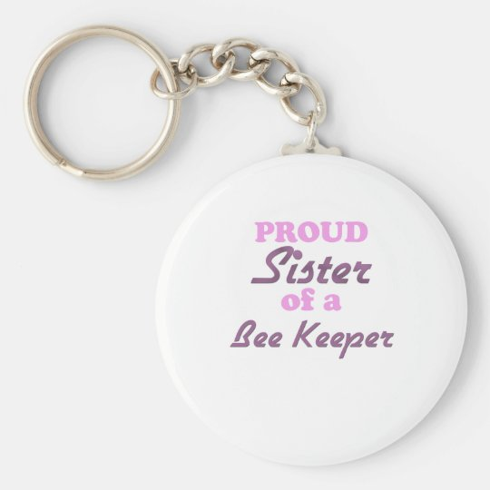 Proud Sister of a Bee Keeper Keychain