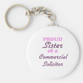 Proud Sister of a Commercial Solicitor Basic Round Button Keychain