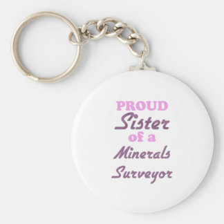 Proud Sister of a Minerals Surveyor Key Chains