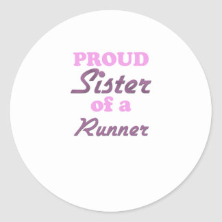 Proud Sister of a Runner Stickers