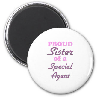 Proud Sister of a Special Agent 2 Inch Round Magnet