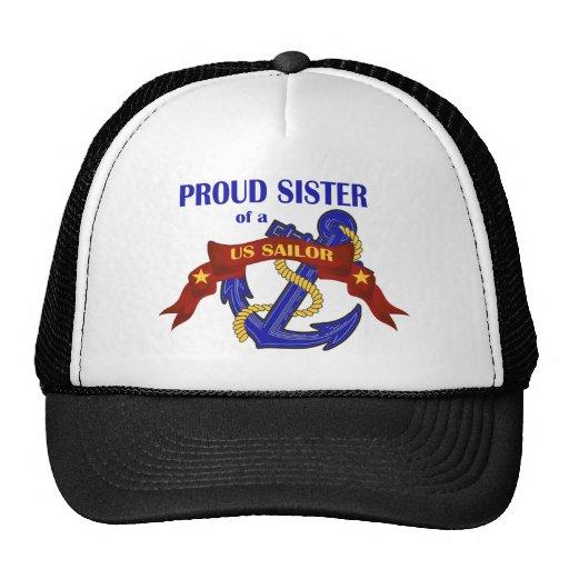 Proud Sister of a US Sailor Mesh Hats
