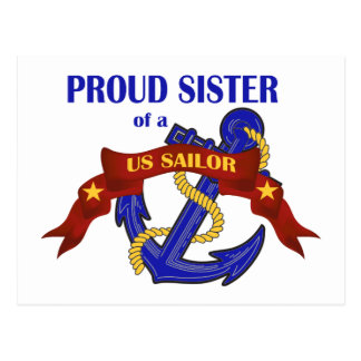 Proud Sister of a US Sailor Postcard