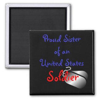 Proud Sister Soldier Magnet