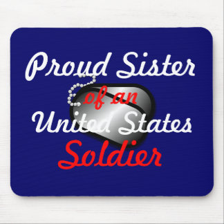 Proud Sister Soldier Mouse Pad