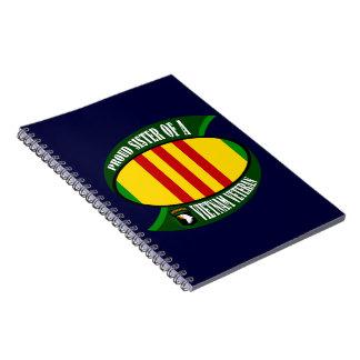 Proud Sister - Vietnam Vet Spiral Notebook