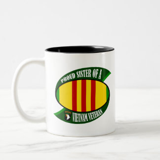 Proud Sister - Vietnam Vet Two-Tone Coffee Mug
