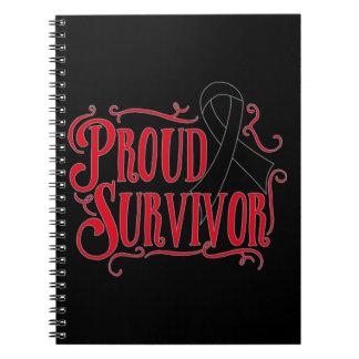 Proud Skin Cancer Survivor Spiral Note Book
