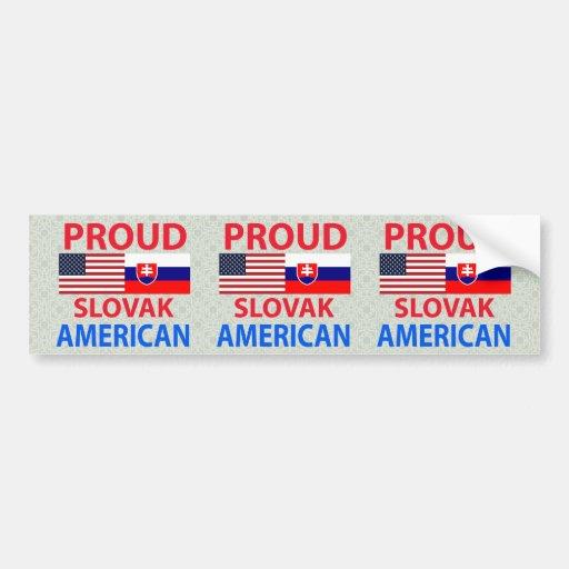 Proud Slovak American Bumper Sticker