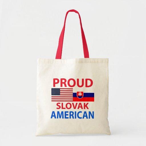 Proud Slovak American Canvas Bags