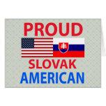 Proud Slovak American Greeting Card