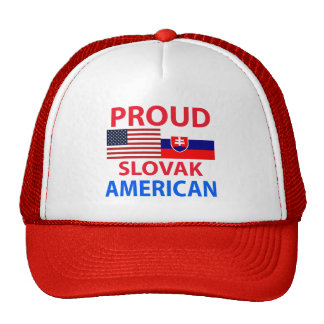 Proud Slovak American Mesh Hats