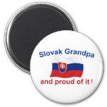 Proud Slovak Grandpa 2 Inch Round Magnet