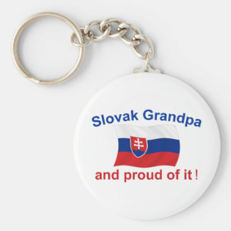 Proud Slovak Grandpa Key Chains