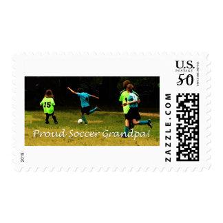 Proud Soccer Grandpa Postage