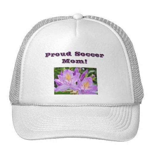 Proud Soccer Mom truckers hat Purple Rhodies