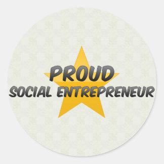 Proud Social Entrepreneur Stickers