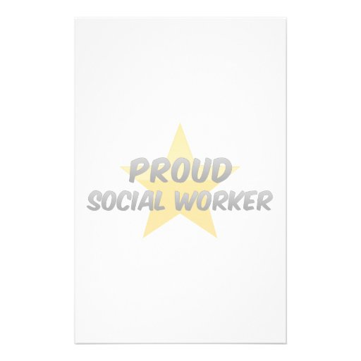 Proud Social Worker Stationery