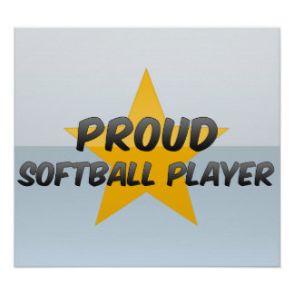 Proud Softball Player Print